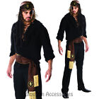 CL651 Swashbuckler Pirate Carribean Buccaneer Mens Fancy Dress Costume Outfit