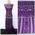 on sale New Ros gold,Purple,black,white sequins on netting evening dress fabric