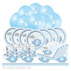 BLUE UMBRELLAPHANTS, Baby Shower Boy, Party Decorations, Games, Banners, Plates