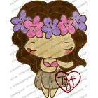 HULA ANYA-The Greeting Farm Mounted Cling Rubber Stamp-Stamping Craft-Cards