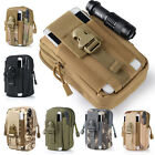 "6"" Outdoor Waterproof Military Tactical Molle Utility Waist Pouch Belt Gym Bag"