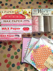 Vintage Retro Printed Wax Wrapping Paper -10p extra P&P for each additional (UK)
