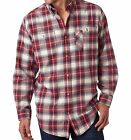 Peaches - Backpacker Men's Yarn-Dyed Flannel Shirts, Plaid, Sizes S-3XL