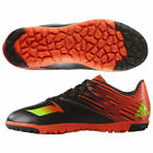 ADIDAS LIONEL MESSI 15.3 TF TURF INDOOR YOUTH SOCCER SHOES Core Black/Neon Green