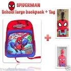 new SPIDERMAN superhero Boys kid school large bag bags backpack + Tag Name Label