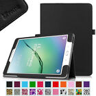 Premium Vegan Leather Folio Stand Case Cover for Samsung Galaxy Tab S2 9.7-Inch