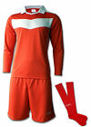 Ichnos teamwear adult size mens football team kit shirt shorts socks red / white