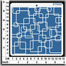 Stencils Templates Masks for Scrapooking, Cardmaking - Retro Squares ST5020