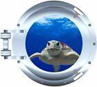 Sea Turtle porthole decal Camper RV motor home mural graphic