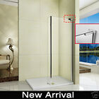 1850mm Walk in Wet Room Shower Enclosure Cubicle Fixed Panel Stone Tray Waste W