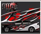 Alloy vinyl graphic decal motorcycle go kart race car decal