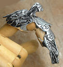 Tao Dragon Pewter Armor Full Finger long Ring Punk Rock Biker Cosplay SteamPunk