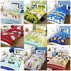 Boys Single Duvet Set - Pillowcase Cover - Kids Animals Vehicles - NEW BEDDING