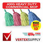 Carton of 12! 400G Commercial Mop Head Refill - Heavy Duty Red Yellow Green Blue