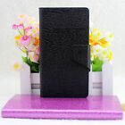 For HuaWei Ascend Y550 Wood Grain PU Leather Flip Wallet Case Cover