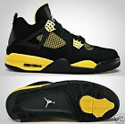 AIR JORDAN IV RETRO THUNDER 4 MEN BLACK-WHITE-TOUR YELLOW AUTHENTIC SELECT SIZE