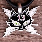 Bad Girl Cartoon Anime Cat Lighting Bolt Lucky Number 13 Biker pewter pendant
