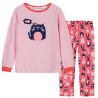 Pyjamas Girls Cotton Flannel Pjs (Sz 8-14) Set Pink Cats Sz 8 10 12 14