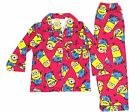 Pyjamas Girls Winter Flannel (Sz 3-7) Pjs Set Hot Pink Minions Sz 3 4 5 6 7