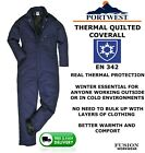PREMIUM PORTWEST THERMAL COVERALL, QUILTED OVERALLS,PADDED,WARM , WINTER