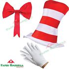 Cat in the Hat Fancy Dress Childrens Adult outfit Book Day Week Dr Seuss Costume