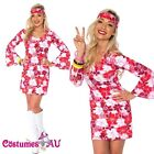 Ladies 60s 70s Hippy Costume Womens 1960s 1970s Disco Go Go Hippie Fancy Dress