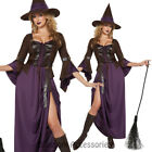 CL706 Salem Witch Halloween Gothic Dark Fancy Long Dress Up Womens Party Costume