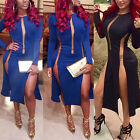 Women Bandage Bodycon Sexy Hollow Party Evening Mesh Lace Mini Dress Club Wear