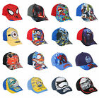 Boys Baseball Cap Summer Sun Hat Star Wars Minions Spider-Man Age 2-10 Official