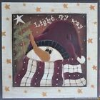 "JM8521 Light My Way Jo Moulton 6""x6"" framed or unframed print art snow man"