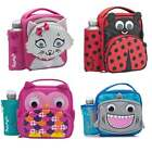 Smash 3D Animal Junior Lunch Bag and Bottle Set - Kids School Lunchbox Box NEW