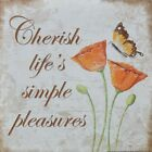 "KM5528 Life's Simple Pleasures Kathy Middlebrook 6""x6"" framed or unframed print"