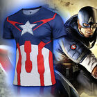Mens Super Hero Marvel T-Shirt Costume Cosplay Cycling Shirt Tight Tops Jersey