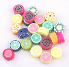 Wholesale 100pcs Polymer Fimo Clay Fruit lily Flowers Spacer Beadsn Mixed