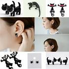 Cute Animal Black Spider/Cat Pierced Ear Stud Women Fashion Earring Jewelry