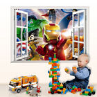 Lot Iron man Removable Wall Stickers Decals Kids Nursery Decor Art Mural Z15