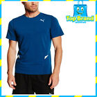PUMA Men's Shirt Fitted Short Sleeve SPORT GYM RUNNING SHIRT MENS BLUE XL
