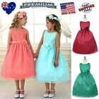 Lace Flower Girl Dress Girls Party Special Occasion Dress Jr Bridesmaid Dress