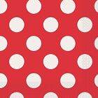 Ruby Red & White Polka Dot | Dots 33cm Paper Party Napkins | Serviettes 1-96pk