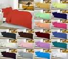 Plain Dyed Poly Cotton Flat Sheets All Sizes or Pillow Cases