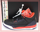 Nike Air Jordan 3 III GS Black Bright Crimson 398614-005 US 4~7Y OG AJ3 4 5 6