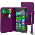 Purple PU Leather Wallet Flip Case Cover, LCD Film & Pen For Various Phones