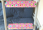PINK FLOWER Padded Bunk Bed Ladder Rung Covers *No-Tool Install*(Safe, Non Slip)