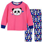 Pyjamas Girls Winter Cotton Flannel (Sz 3-7) Pjs Set Pink Panda Sz 3 4 5 6 7