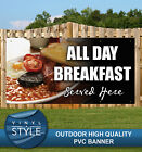 ALL DAY BREAKFAST FOOD CAFE PVC BANNER PROMOTIONAL VARIOUS SIZES