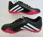 "Adidas ""Predito"" Astro turf Football Trainer Black/White/Fuchsia F32582 (R15A)"