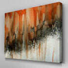 AB909 Modern orange black graffiti Canvas Wall Art Abstract Picture Large Print