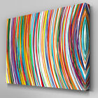 AB933 Multi colour stripes modern Canvas Wall Art Abstract Picture Large Print