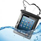 WATERPROOF CASE UNDERWATER TRANSPARENT BAG POUCH COVER TOUCH SCREEN for TABLETS