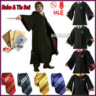 Harry Potter Adult Child Cloak Cape Gryffindor Robe Fancy Dress Costume Free Tie
